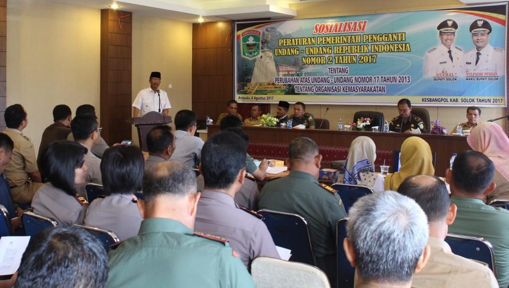 Kabupaten Solok Sosialisasikan UU Organisasi Kemasyarakatan