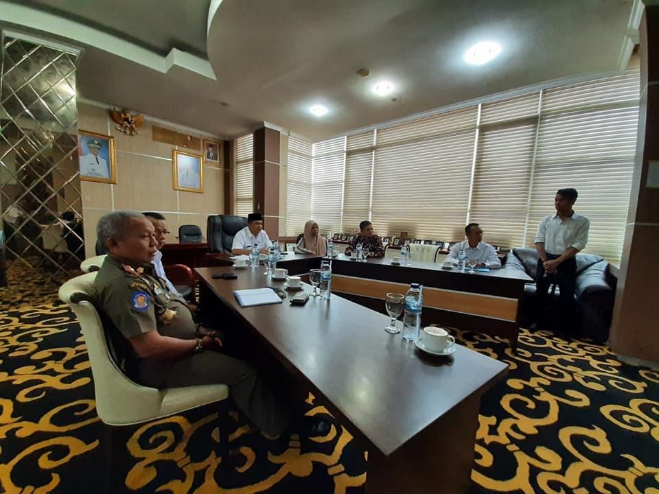 Vido Conference Pemerintah Kabupaten Solok dengan Pemprov Sumbar bersama 4 Kabupaten/Kota